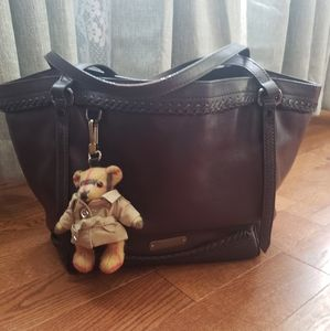 BURBERRY leather/brown satchel.